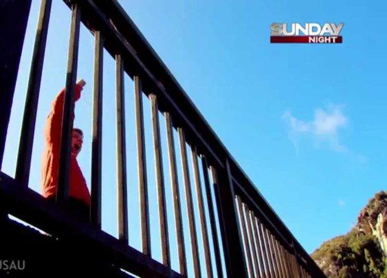 World Record Basketball Shot 415 ft Off Tasmanian Dam