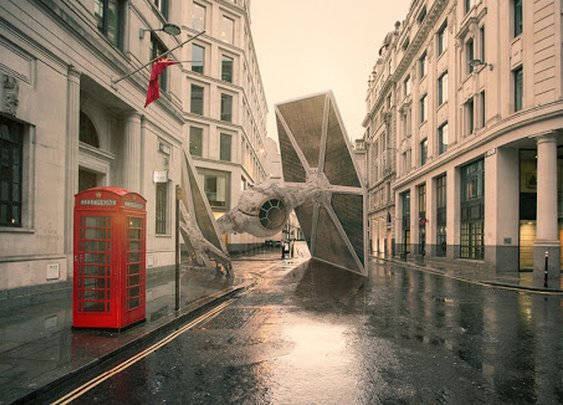 Star Wars Battleships Crashed Various Cities by Nicolas Amiard | 2 Illustration