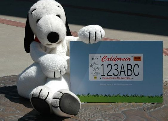 There is a Snoopy California license plate edition in the works.