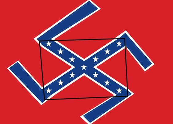 Art Piece Combines The Confederate Flag and Nazi Swastika