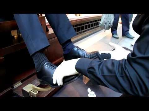 Ultimate Shoe Shine at Burlington Arcade - YouTube