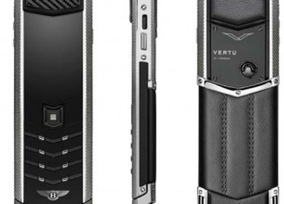 Vertu Signature for Bentley goes feature phone