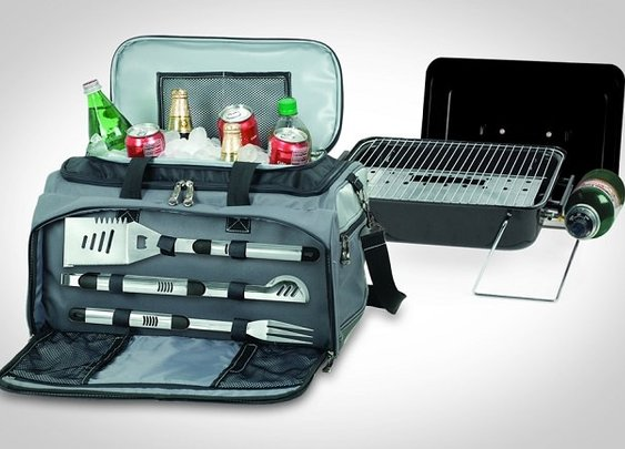 The Picnic Time Buccaneer is an all-in-one BBQ grill/cooler set