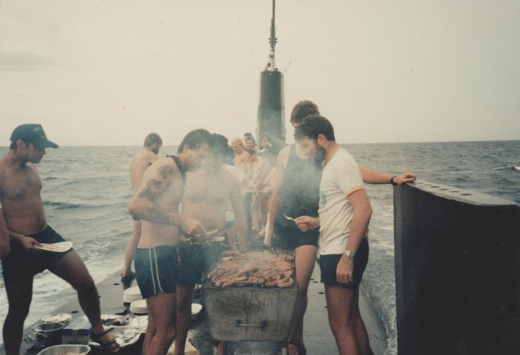 Barbecue On Top Of a Moving Submarine