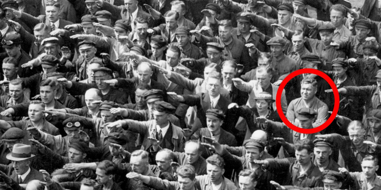 The lone German man who refused to give Hitler the Nazi salute
