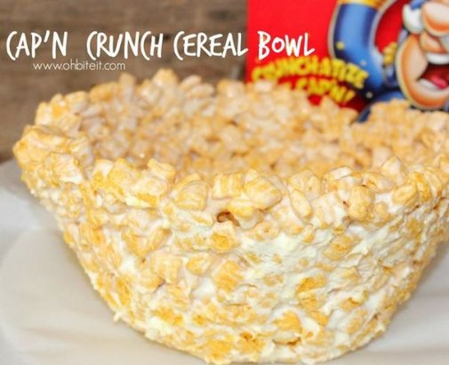 Deep Fried Cap'n Crunch Cereal Bowl