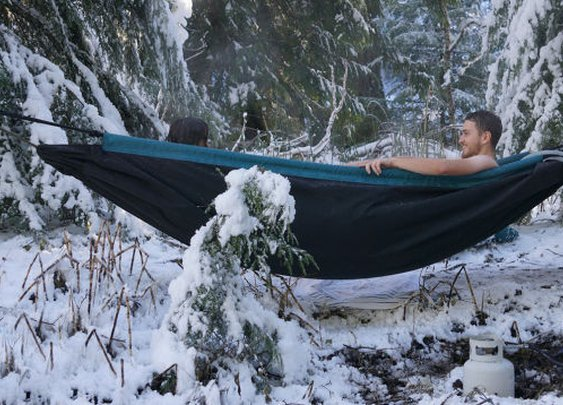 There Will Never Be Anything More Relaxing Than a Hot Tub Hammock