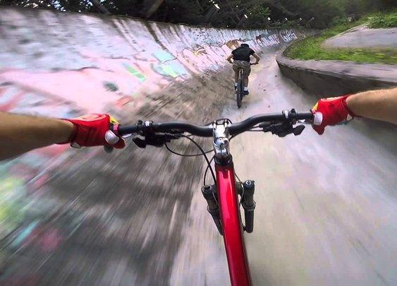 Mountain Biking 40 MPH On Olympic Bobsled Track In Sarajevo
