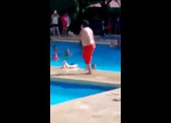 Chubby Kid Kills Cuban Pete at the Pool