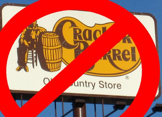Change the name of Cracker Barrel to Caucasian Barrel