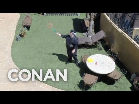 George R.R. Martin Is Working Hard On His Next Book - CONAN on TBS - YouTube