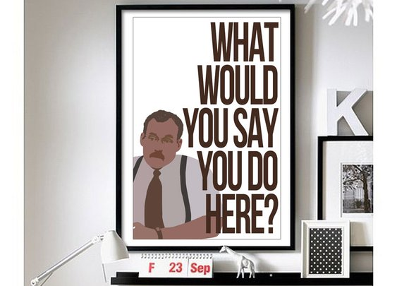 "Office Space–(Bob) 11""x17"" print"