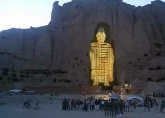 Bamiyan Buddhas rise again with 3D light projection - Lion's Roar