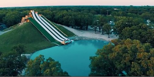 This Crazy Texas Waterslide Launches Riders Into the Sky - The Royal Flush