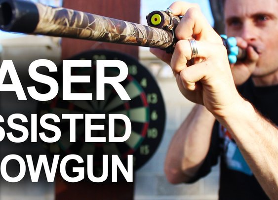 How To Make A Laser Assisted Blowgun - YouTube