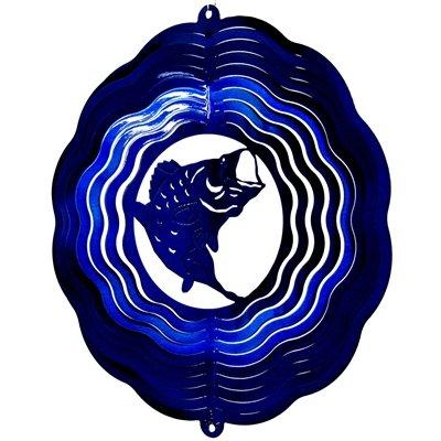 """SheilaShrubs.com: 12"""" Bass - Blue Starlight Wind Spinner 2752 by Dakota Steel Art: Wind Spinners"""
