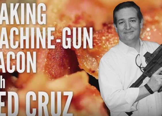 Senator Ted Cruz Makes Machine Gun Bacon