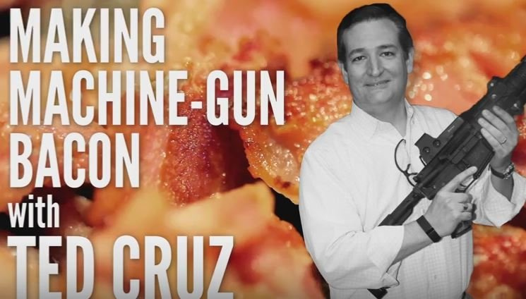 Senator Ted Cruz Makes Machine GunBacon