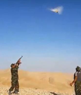 Syrian AK47 Rock TargetPractice