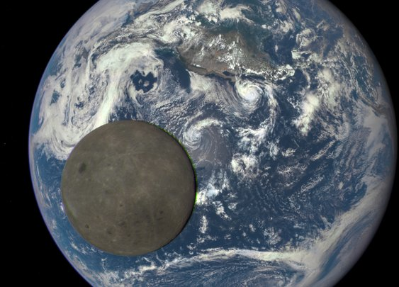 Dark side of the moon captured by Nasa satellite a million miles from Earth
