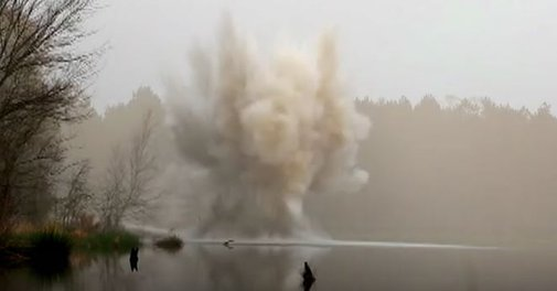 140 Lbs Of Tannerite On ALake