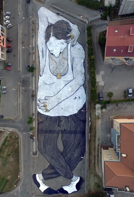 "Soon on Goggle map: ""Street art""... Campania, Italy."