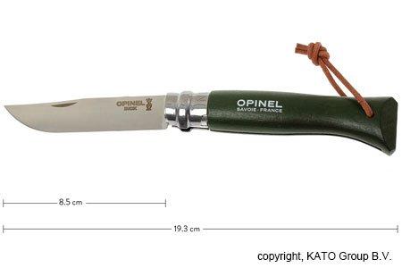 Opinel Trekking pocket knife No. 08, Khaki | knivesandtools.co.uk