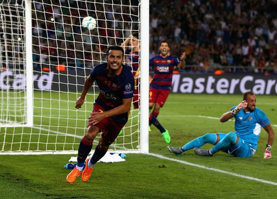 Overtime goal by Pedro helps Barcelona defeat Sevilla in UEFA Super Cup - Los Angeles Soccer | Examiner.com