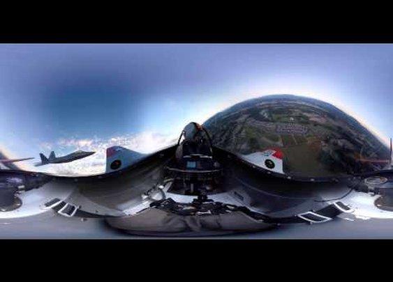 Heritage Flight Museum - #360Video - P-51 & F-22