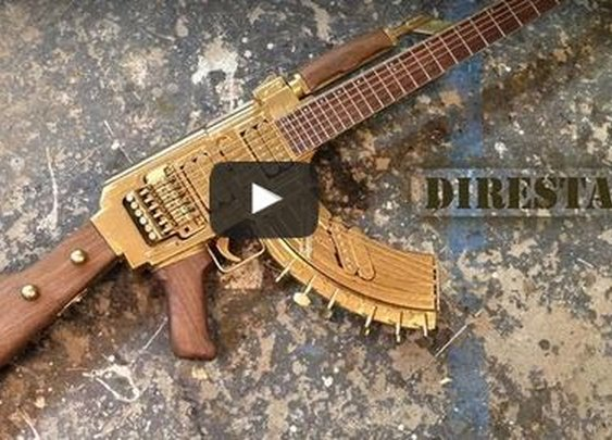 Dude Makes AK47 Style Guitar