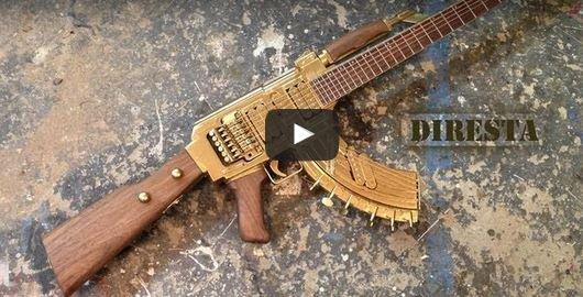 Dude Makes AK47 StyleGuitar
