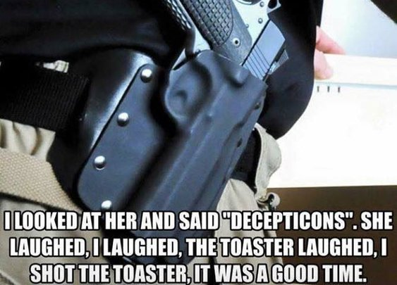 My Wife Asked Me Why I Carry A Gun In The House