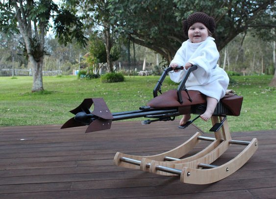 Build a Star Wars Rocking Speeder Bike - DIY