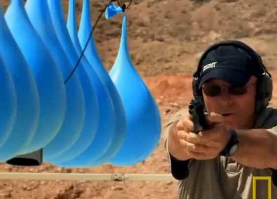 Wait, What? Guy Tests How Many Water Balloons It Takes to Stop a Bullet Blasting out of a 44 Magnum