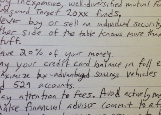 The index card with all the financial advice you'll ever need