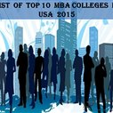 2015 Ranking of Best USA MBA Colleges