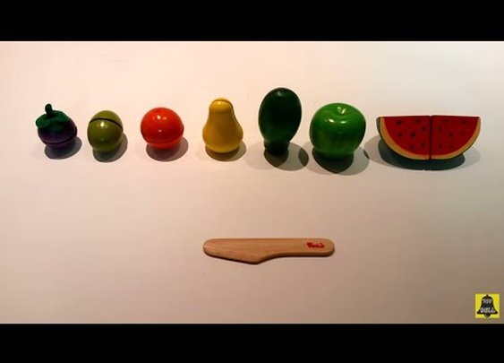 Voila S033G Chop Chop Fruit Set (브알라 과일썰기놀이) Früchte Set orange, papaya, apple + toy 장난감 - YouTube
