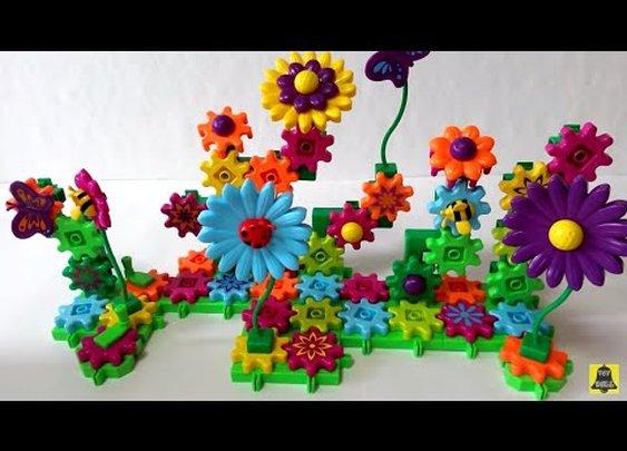 Gears! Gears! Gears! Build&Bloom Building Set (기어스 기어스 기어스 빌드&블룸) Blumengarten - Bauset игрушка Toy - YouTube