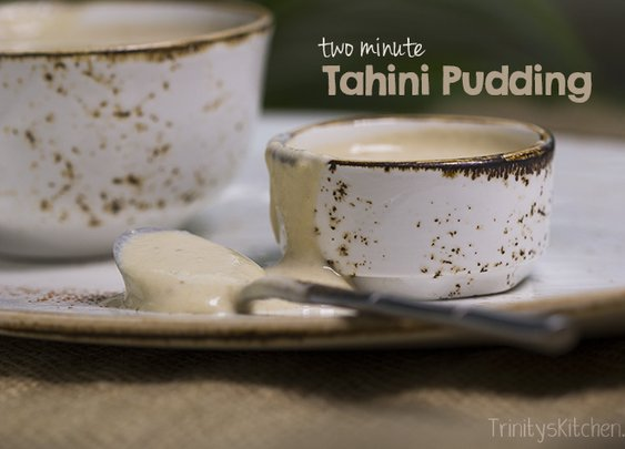 Trinity's Conscious Kitchen - Two Minute Tahini Pudding (delicious, dairy free, gluten-free) | Trinity's Conscious Kitchen