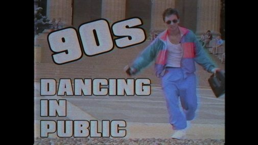 A Man Dresses in Audacious 1990s Clothes and Dances in Public to Some of the Biggest Hits of That Decade