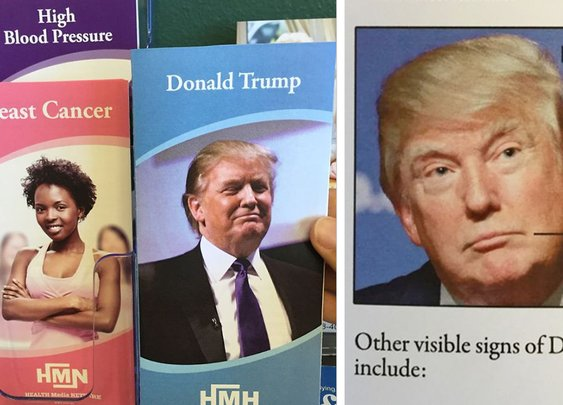 I Added This Fake Health Brochure About Donald Trump To A Doctor's Waiting Room | Bored Panda