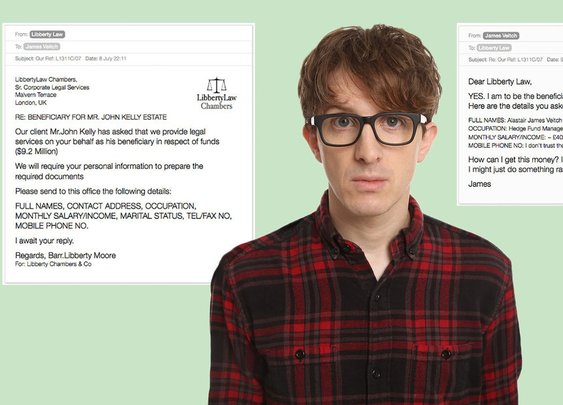 This British man's email exchange with a scammer escalated hilariously
