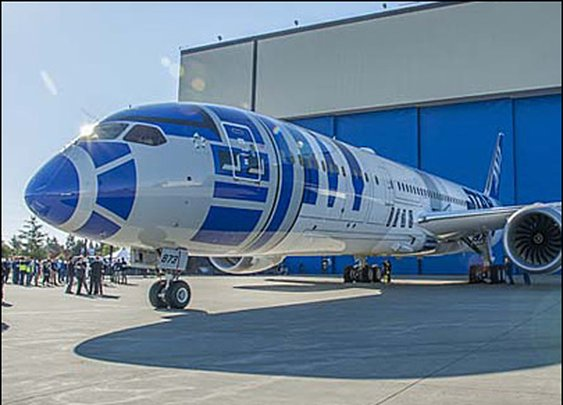 Boeing unveils Star Wars-themed Dreamliner