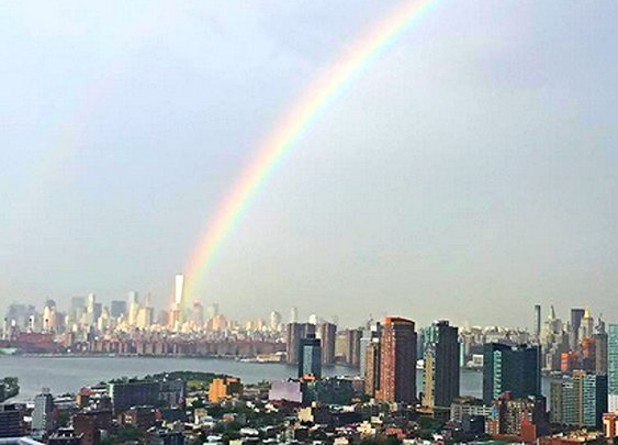 Rainbow Appears Over World Trade Center The Day Before 9/11