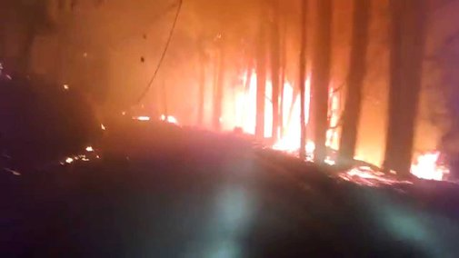 Escaping Anderson Springs during Valley Fire - YouTube