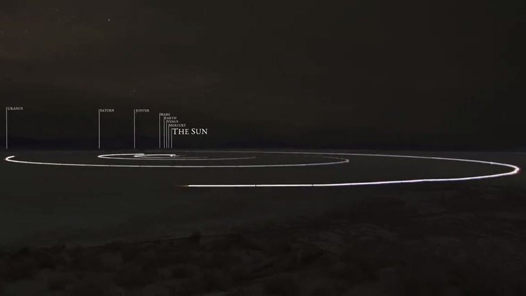 Planets Transit The Desert In 7-Mile Scale Model Of The Solar System