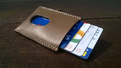 Leather Credit Card Holder Credit by JokerStraps - FREE SHIPPING