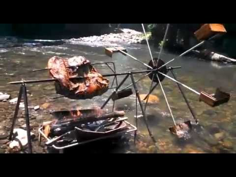 Brilliant Water-Powered BBQ Spit