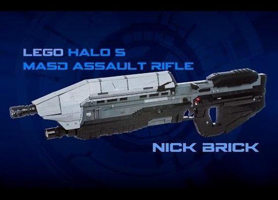 LEGO Halo 5 MA5D Assault Rifle Life Size