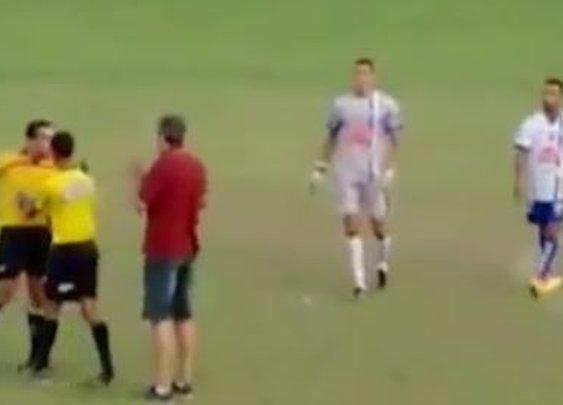 Referee Brandishes Gun During SoccerMatch